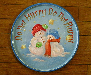 Do not hurry, Do not flurry