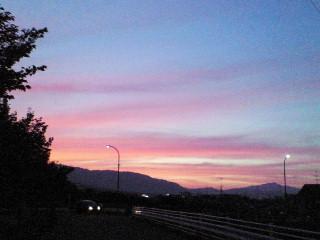 一番好きな夕暮れの空